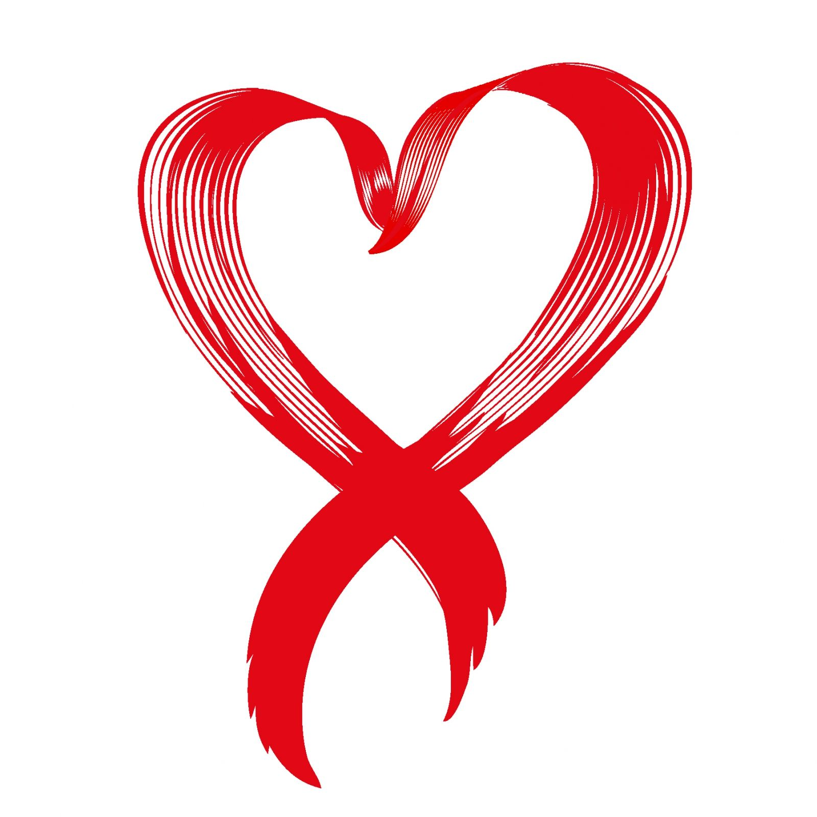 Cancer clipart heart. Red ribbon pink awareness