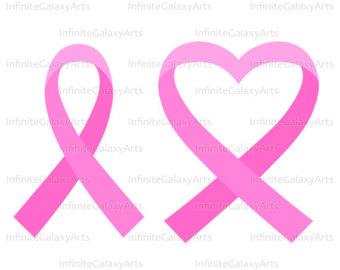 Ribbon svg etsy pink. Cancer clipart heart