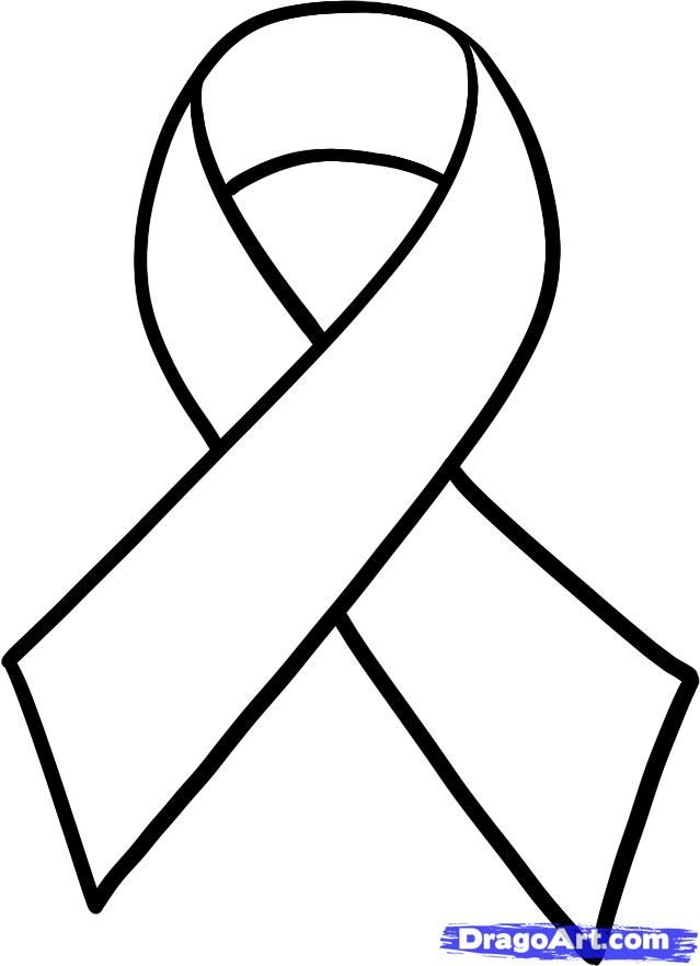 Ribbon colors how to. Cancer clipart sketch