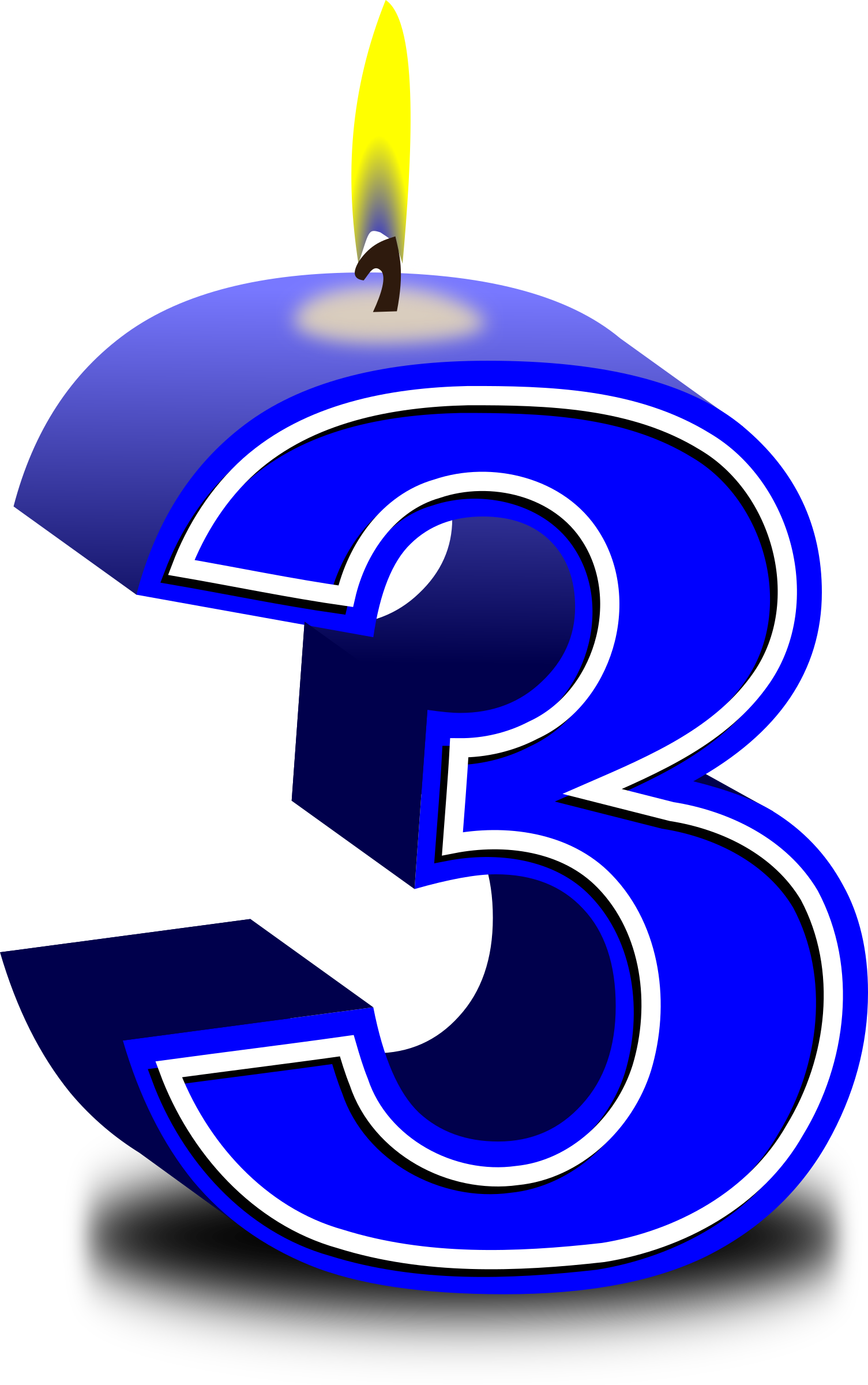 Number 3 Clipart Blue  Number 3 Blue Transparent Free For