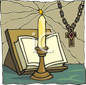Candles clipart bible. Royalty free image a