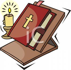 A on stand and. Candles clipart bible