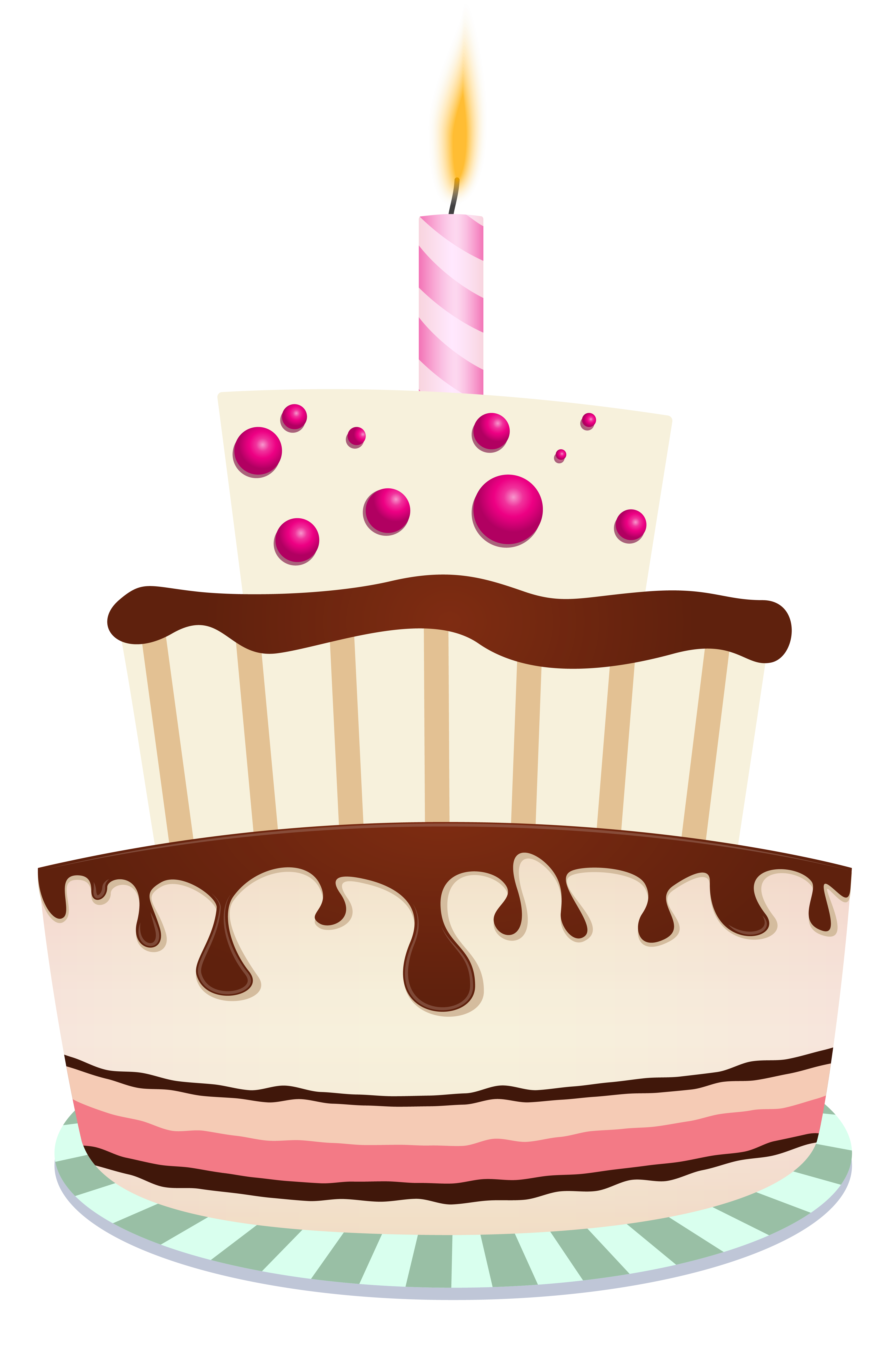 Candles clipart birthday cake. With one candle png