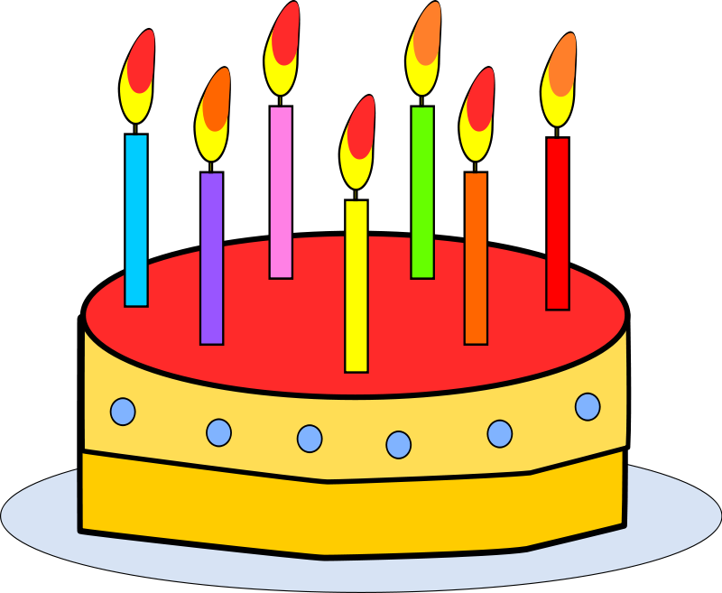 Candles clipart birthday cake. Free with cakes