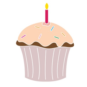 Candles clipart birthday cupcake. Free clip art image