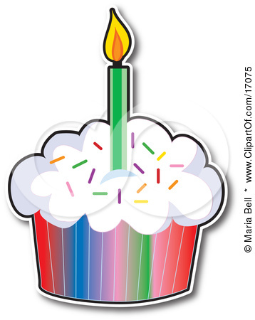 Cupcakes with panda free. Candle clipart birthday cupcake