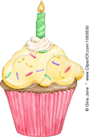 Candle clipart birthday cupcake. And royalty free hand