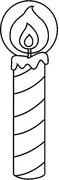Candle clipart black and white. Birthday candles best hy