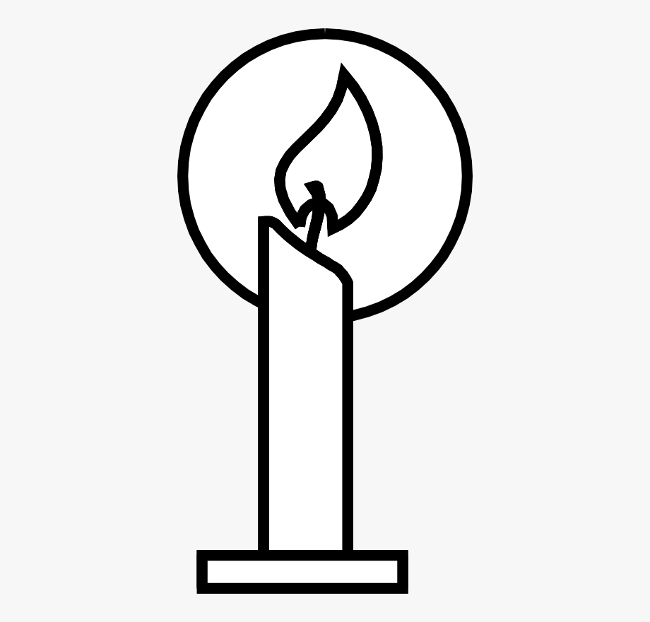Candles png images black. Clipart candle symbol