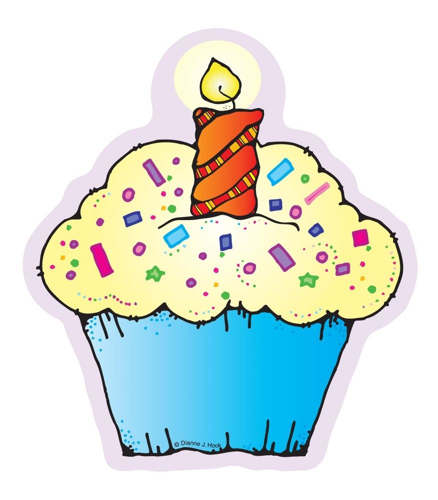 Cupcakes cut outs school. Candles clipart bulletin board