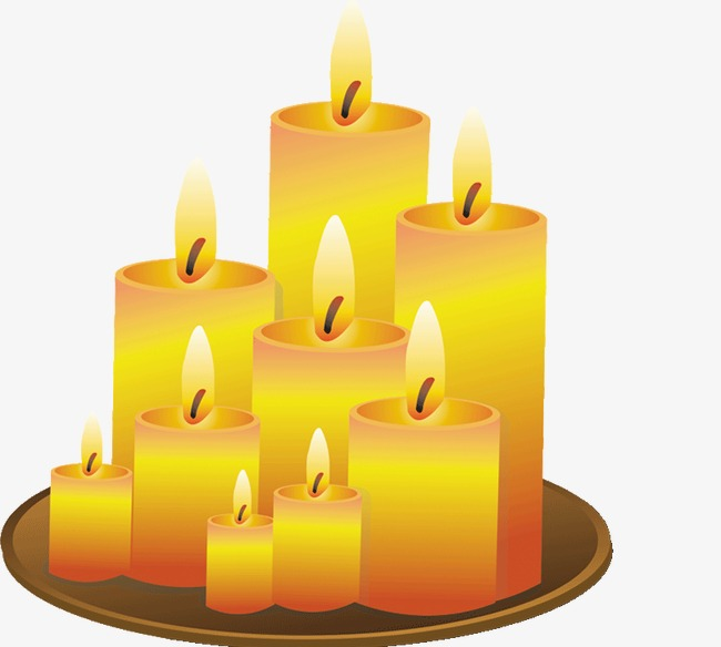Combustion candle png image. Candles clipart burning