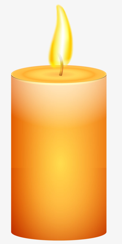 Candles clipart candle flame. Burning hand painted flames
