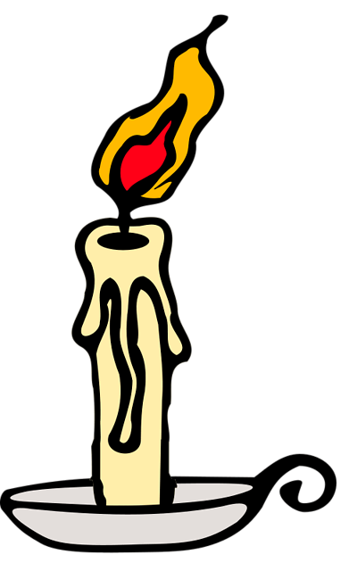 candles clipart burning