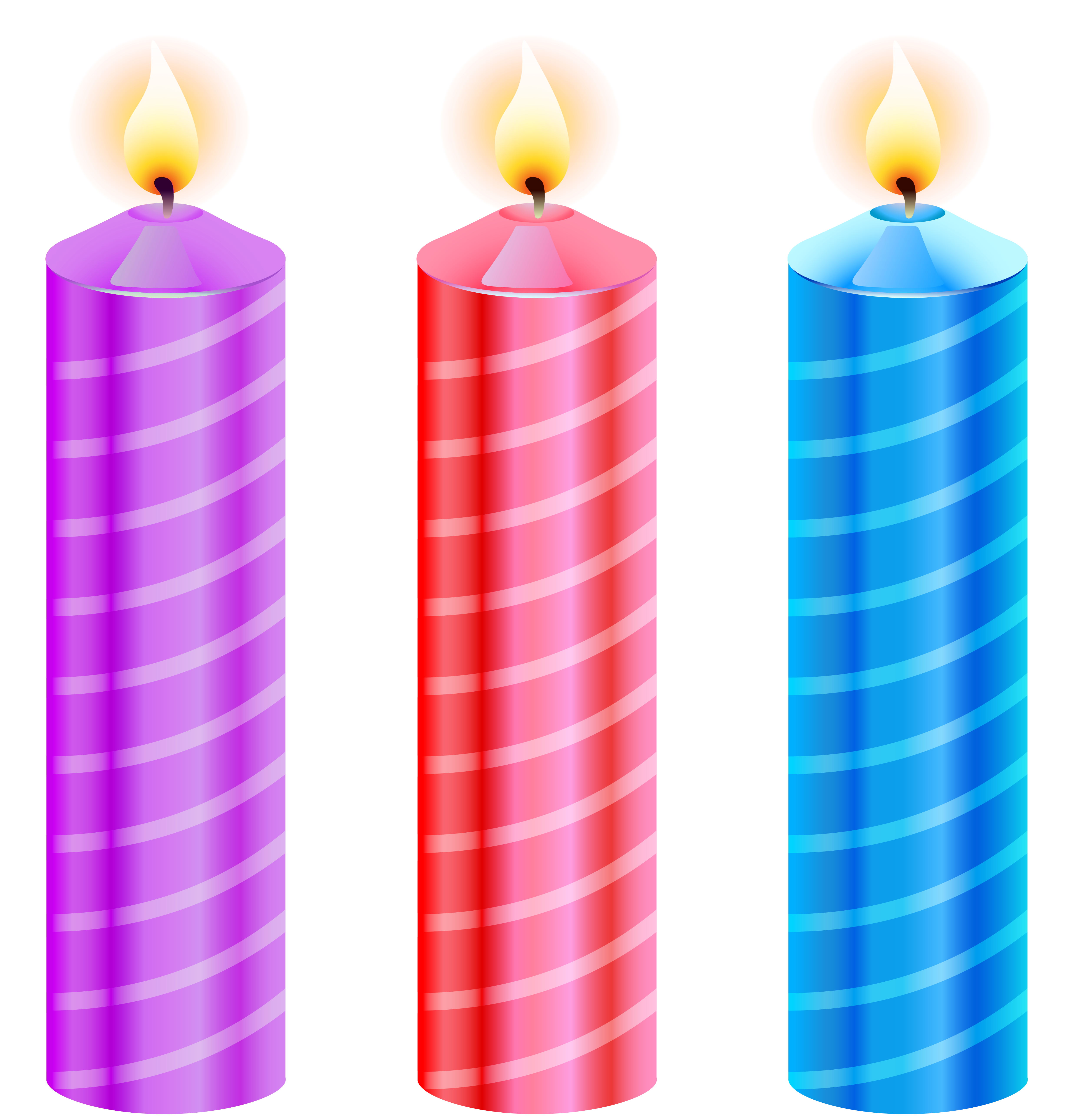 Candles clipart. Birthday png image gallery