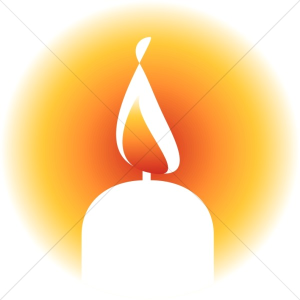 Candles clipart lit. Brightly candle religious christmas