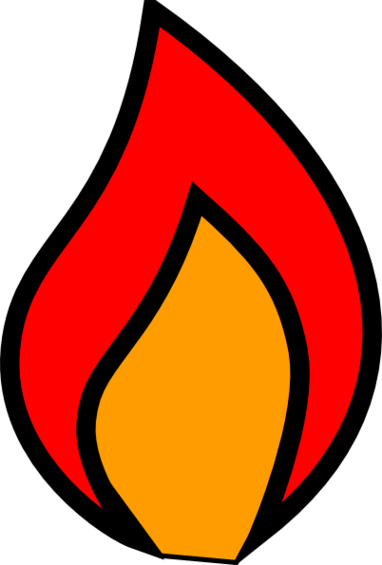 Flames clipart candle flame.  clipartlook