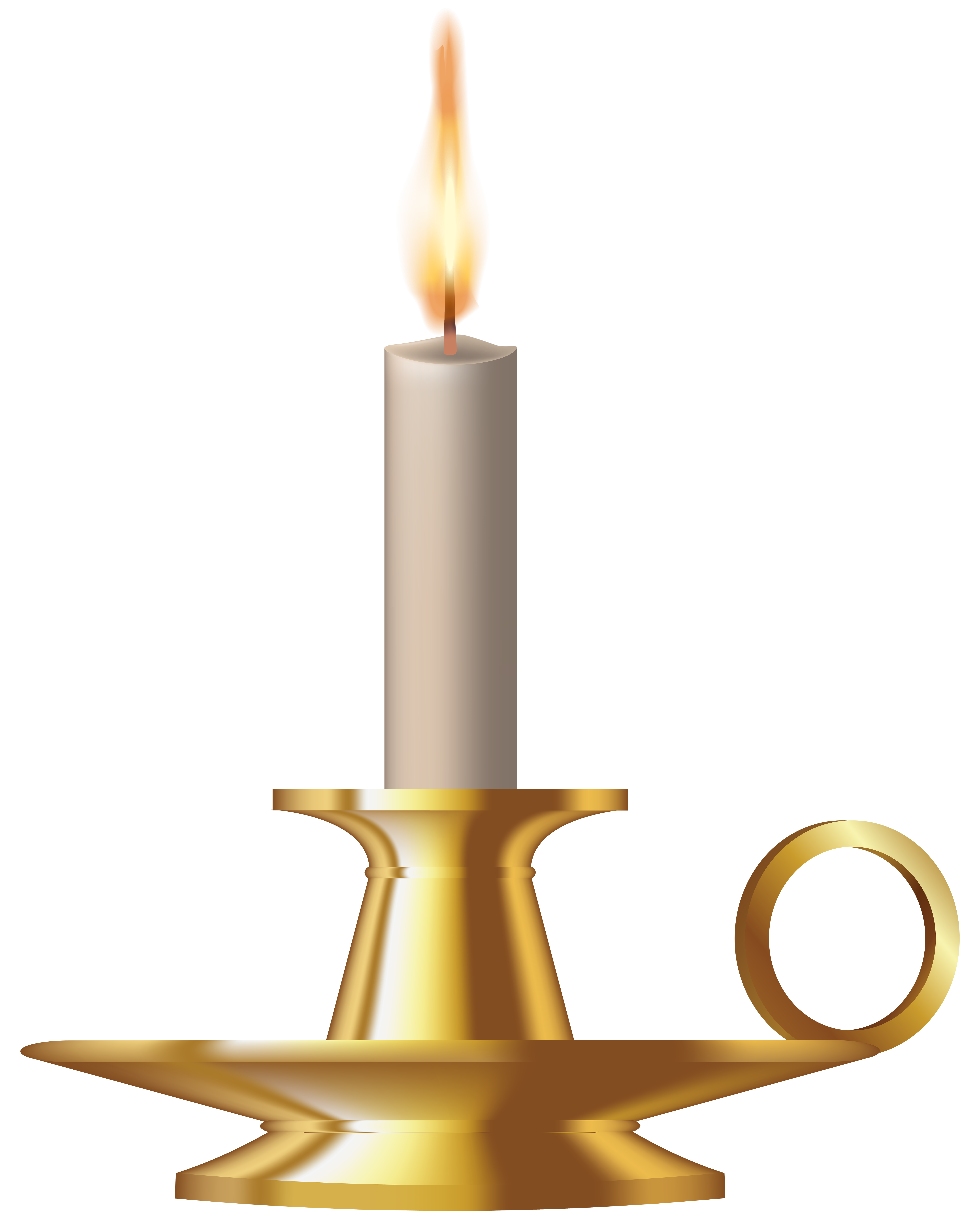 Candle clipart candlestick. Gold png clip art