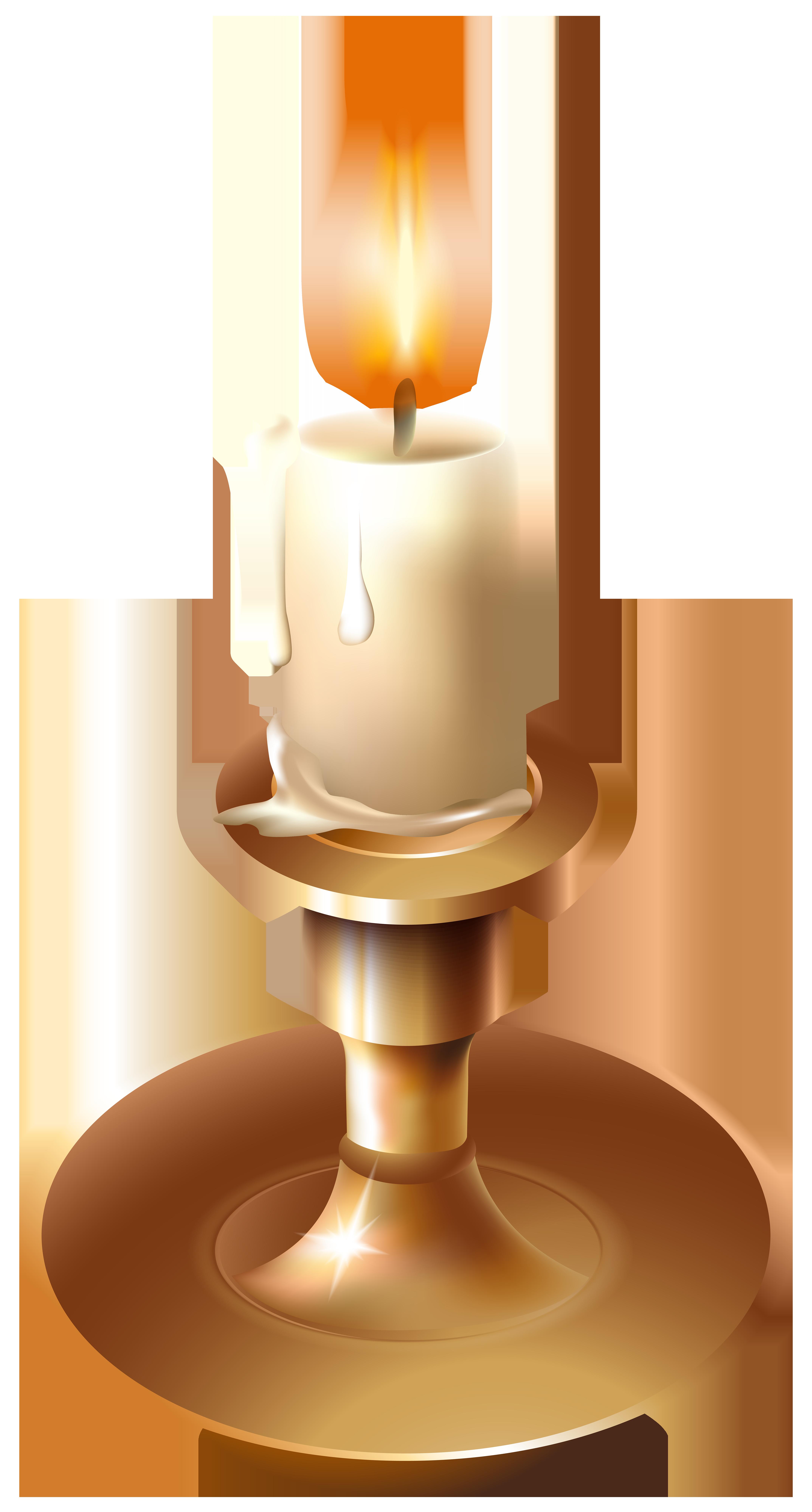 Vinatge png clip art. Candle clipart candlestick