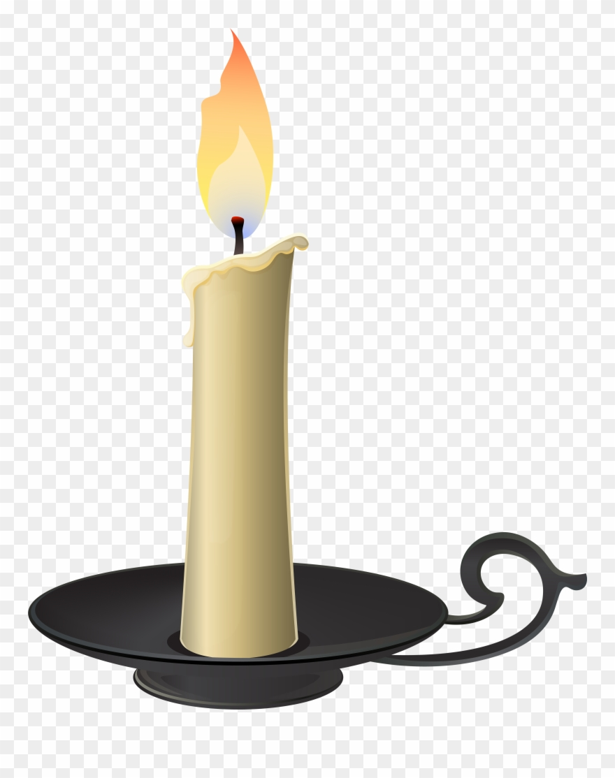 Png clip art candle. Candles clipart candlestick