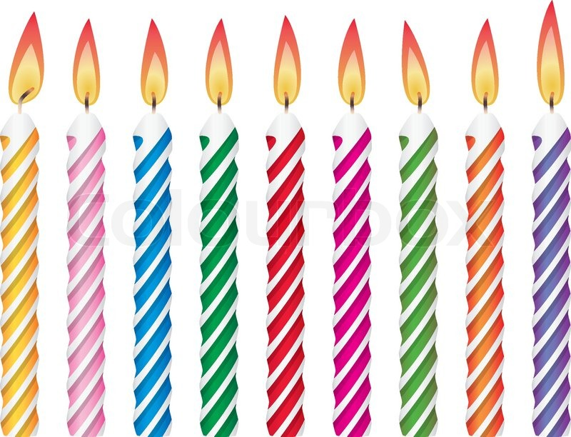 Candles clipart cartoon. Birthday candle drawing at