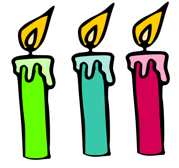 Birthday candle of clip. Candles clipart cartoon