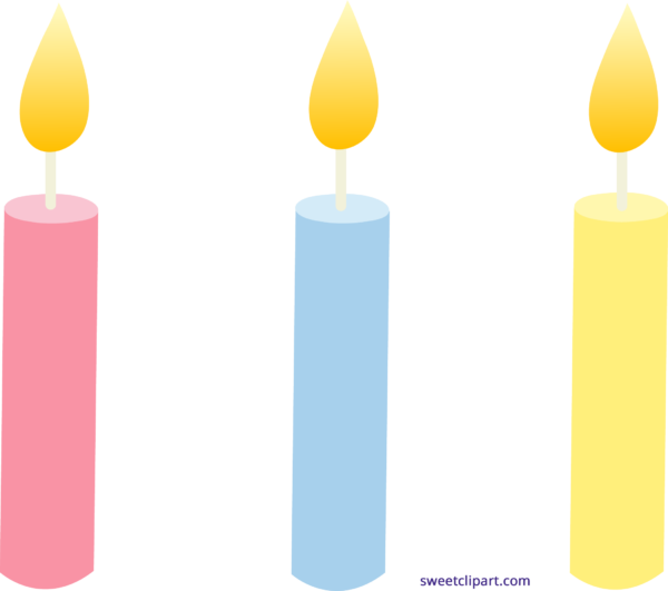 Sweet clip art page. Coloring clipart candle
