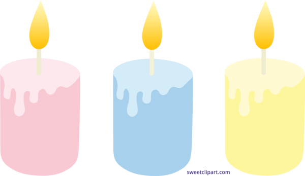 Sweet clip art page. Candles clipart colored