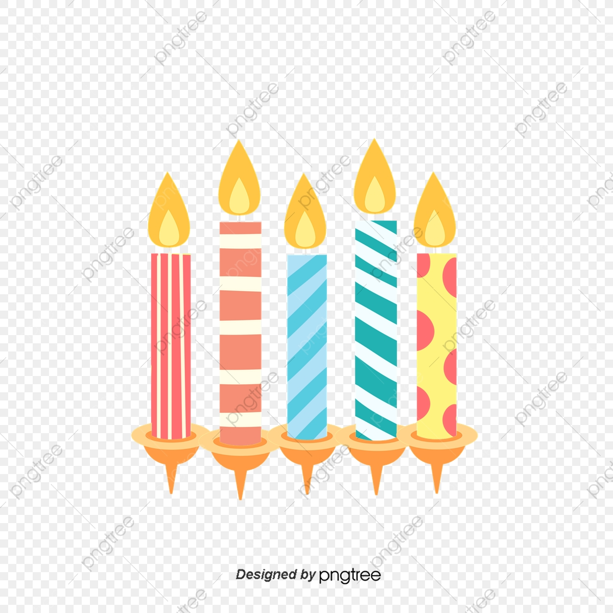 Candy cartoon candle . Candles clipart colored