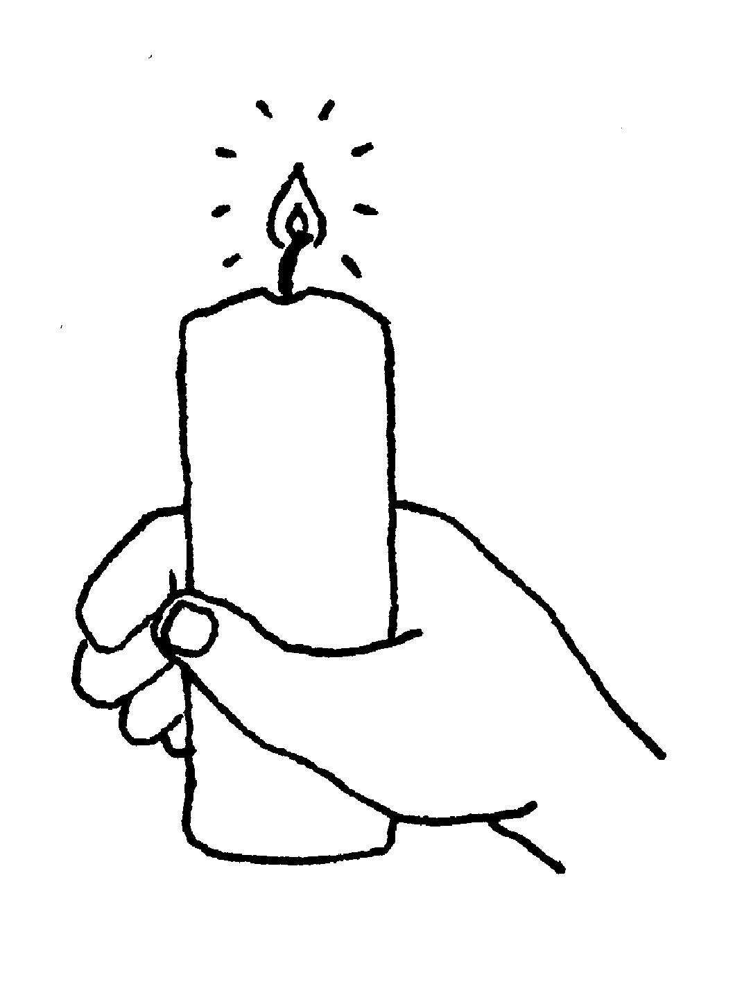 Remembrancetide reverend ally holding. Candles clipart line art