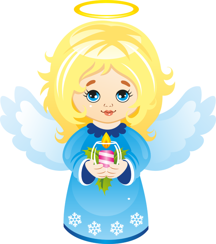 Cute christmas angel with. Clipart snow angle