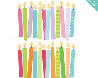 Candle clip art etsy. Candles clipart cute