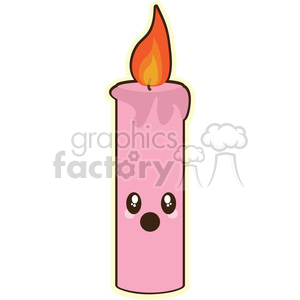 Candles clipart cute. Cartoon candle illustration clip