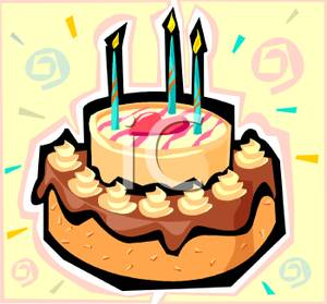 Candles clipart fancy. Birthday cake with three