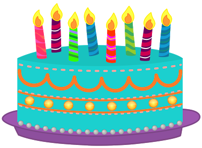 Candles clipart happy birthday. For facebook and whatsapp