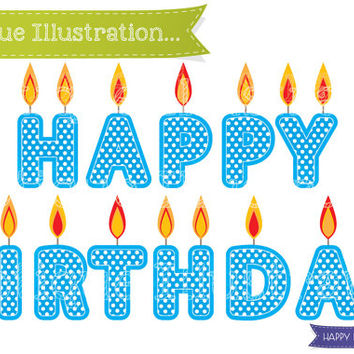 Candle clipart happy birthday. Weather digital set clip
