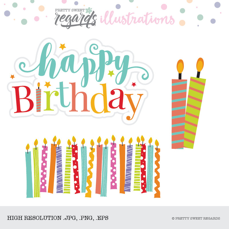 Clip art graphic sold. Candle clipart happy birthday