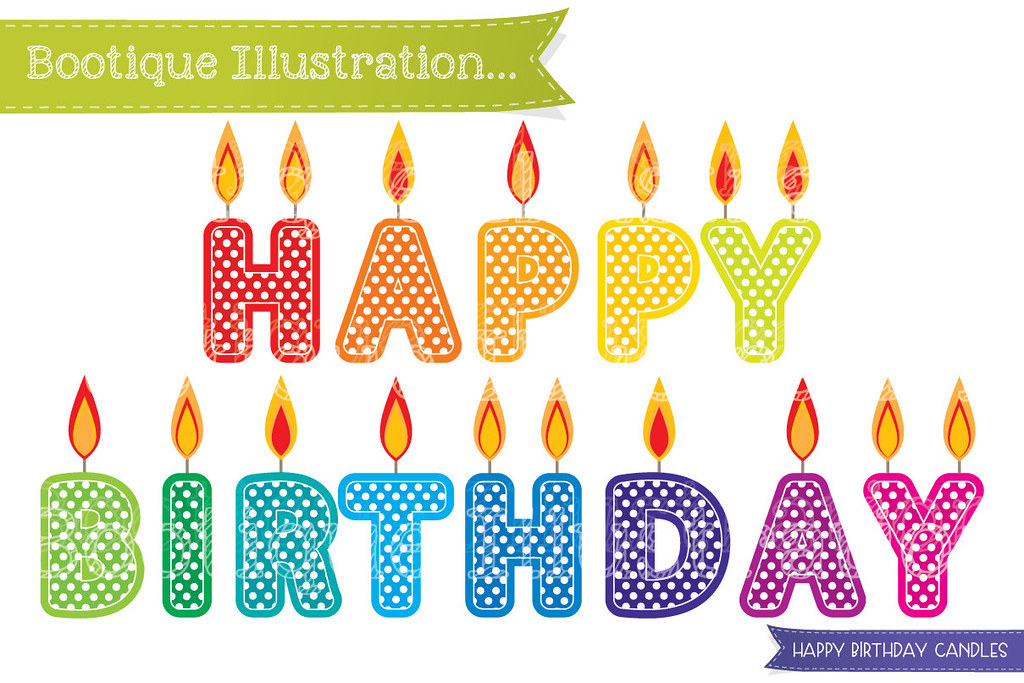 Candles clipart happy birthday.