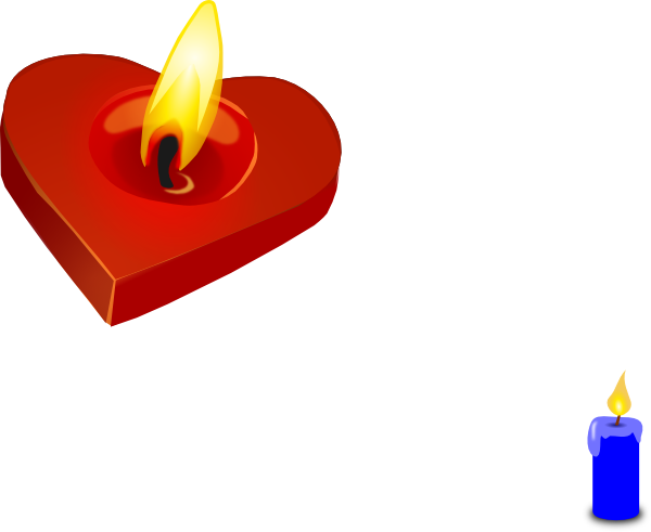 Heart candle clip art. Candles clipart burning