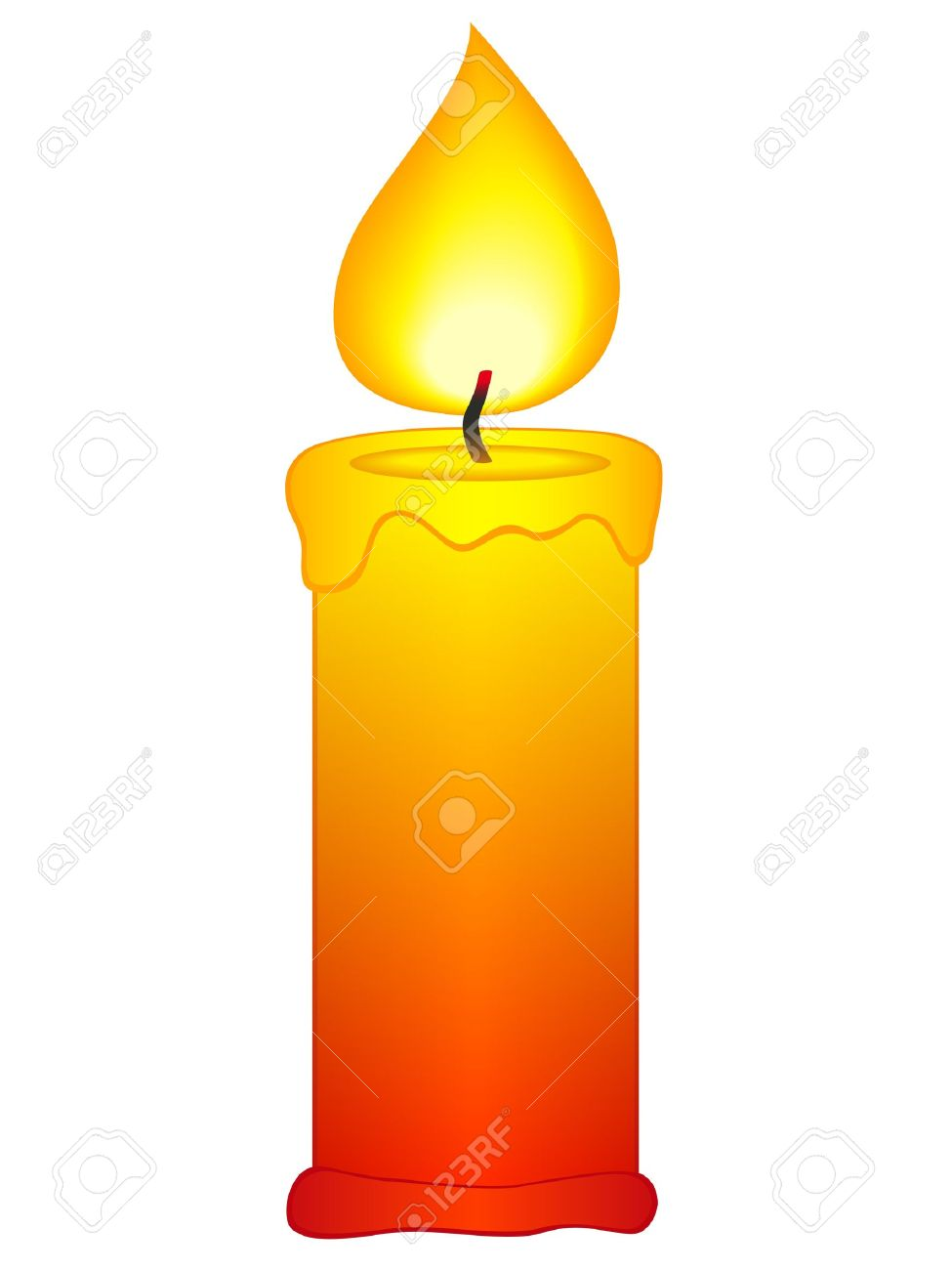 beauty lighted clip. Candles clipart candle flame