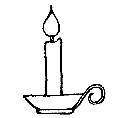 Candles clipart line art. Candle black and white