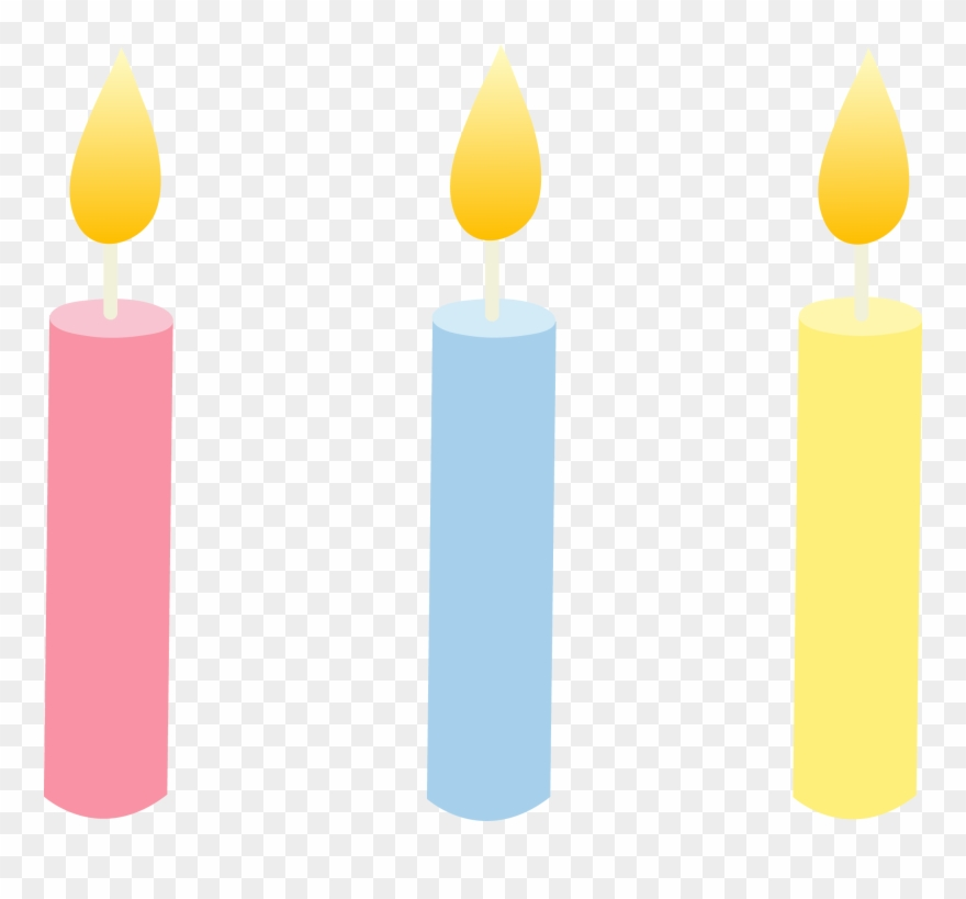Birthday candle png download. Candles clipart lit