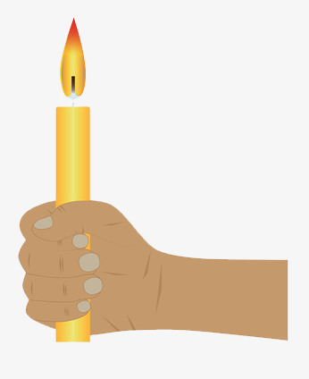 Holding a candle cartoon. Candles clipart lit