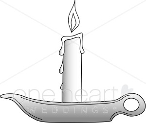 Candle wedding. Candles clipart lit