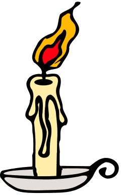 Candle . Candles clipart lit