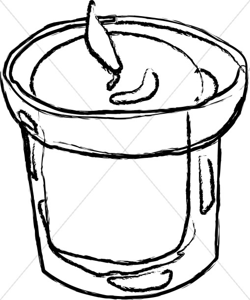 Candles clipart memorial candle. Small in outline church