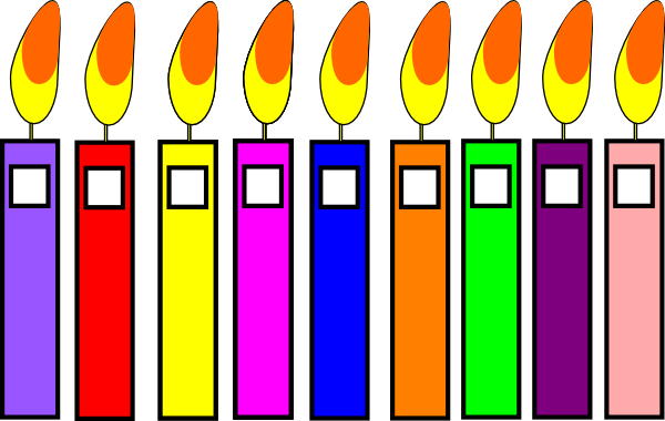 candles clipart printable
