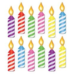 Candles clipart printable. Mini birthday candle cutouts