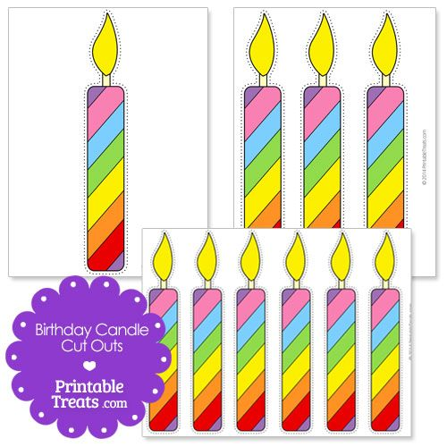Printable birthday candle cut. Candles clipart bulletin board