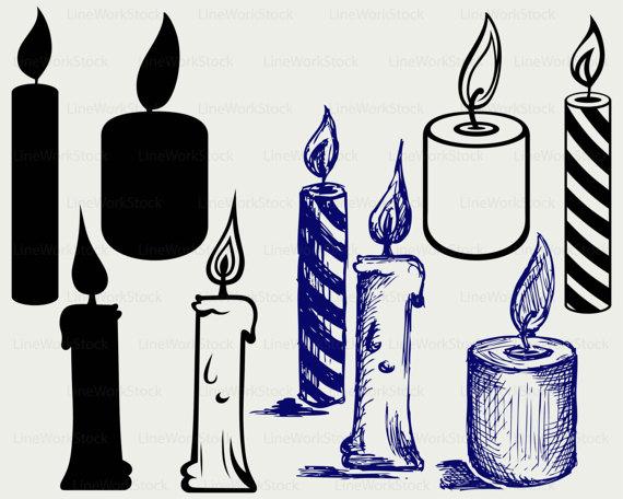 Svg candle cricut cut. Candles clipart silhouette