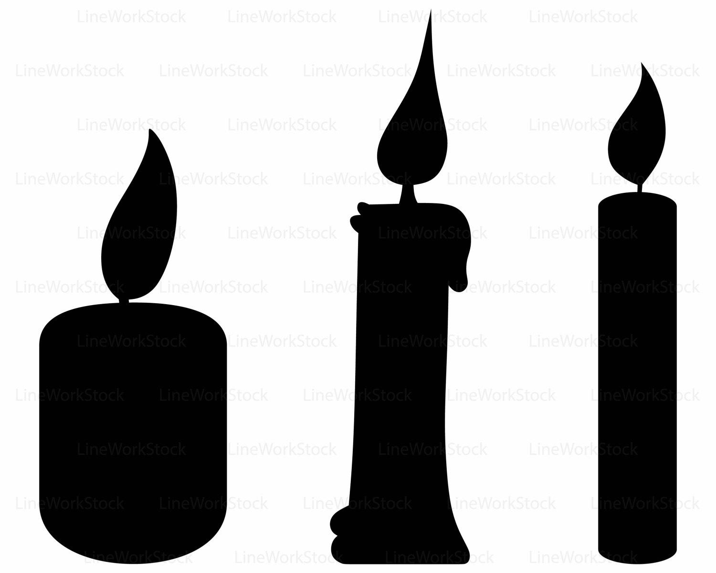 Candle clipart silhouette. Candles svg cricut cut